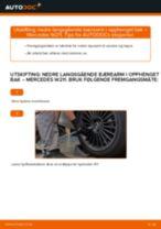 Skifte nedre langsgående bærearm i opphenget bak: Mercedes W211 | Steg for steg