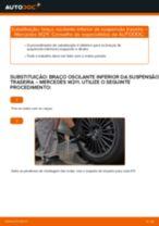Como mudar: braço oscilante inferior da suspensão traseira - Mercedes W211 | Guia de substituição