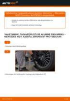 PDF asendamise juhend: Roolimine(risti-, piki-, põiki-) MERCEDES-BENZ E-klass Saloon (W211) tagumine ja eesmine