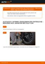 Wie Bremssattel Reparatursatz beim MERCEDES-BENZ E-CLASS (W211) wechseln - Handbuch online