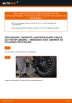 Handleiding: Mercedes W211 – onderste langsdraagarm van de achterophanging vervangen