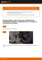 Changer Triangle de direction arrière et avant MERCEDES-BENZ à domicile - manuel pdf en ligne