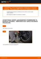 Automekaniker anbefalinger for udskiftning af MERCEDES-BENZ Mercedes W211 E 270 CDI 2.7 (211.016) Styrekugle