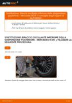 Sostituzione braccio oscillante inferiore della sospensione posteriore: Mercedes W211 | Istruzioni