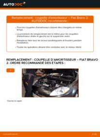 Comment effectuer un remplacement de Coupelle d'Amortisseur sur 1.9 D Multijet FIAT BRAVO II (198)