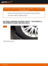 Kaip atlikti keitimą: 1.9 D Multijet FIAT BRAVO II (198) Vikšro Valdymo Svirtis