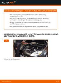 Wie der Wechsel durchführt wird: Domlager 1.9 D Multijet FIAT BRAVO II (198) tauschen