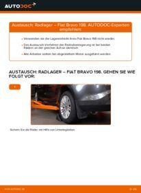 Wie der Wechsel durchführt wird: Radlager 1.9 D Multijet FIAT BRAVO II (198) tauschen