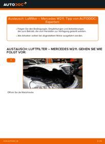 Wie der Wechsel durchführt wird: Luftfilter E 220 CDI 2.2 (211.006) Mercedes W211 tauschen