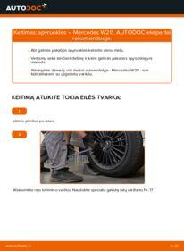 Kaip atlikti keitimą: E 220 CDI 2.2 (211.006) Mercedes W211 Spyruoklės