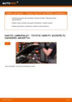 Automekaanikon suositukset TOYOTA Toyota Yaris p1 1.4 D-4D (NLP10_) -auton Ajovalot-osien vaihdosta