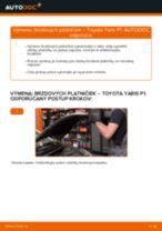 Výmena predné a zadné Sada brzdových čeľustí TOYOTA YARIS (SCP1_, NLP1_, NCP1_): tutorial pdf