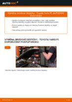Výměna Brzdové Destičky TOYOTA YARIS: zdarma pdf