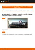 Toyota Yaris NCP 15 tutoriel de réparation et de maintenance