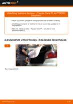 Slik bytter du bakluke demper på en Toyota Yaris P1 – veiledning