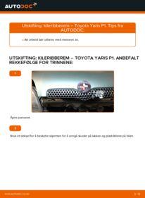 Slik bytter du Kileribberem på 1.0 (SCP10_) Toyota Yaris p1