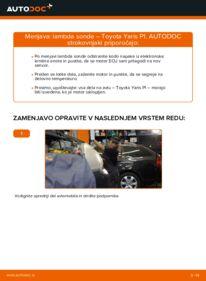 Kako izvesti menjavo: Zaznavalo lamda na 1.0 (SCP10_) Toyota Yaris p1