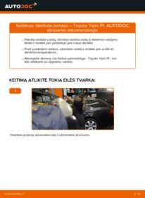 Kaip atlikti keitimą: 1.0 (SCP10_) Toyota Yaris p1 Lambda jutiklis