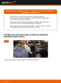Wie der Wechsel durchführt wird: Lambdasonde 1.0 (SCP10_) Toyota Yaris p1 tauschen