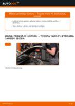 Kā mainīties Galvenais bremžu cilindrs TOYOTA YARIS (SCP1_, NLP1_, NCP1_): pdf rokasgrāmata