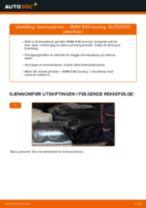 Slik bytter du bremseskiver fremme på en BMW E46 touring – veiledning