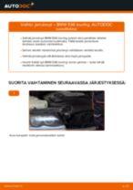 Kuinka vaihtaa jarrulevyt eteen BMW E46 touring-autoon – vaihto-ohje