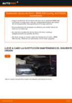 Cómo cambiar: discos de freno de la parte delantera - BMW E46 touring | Guía de sustitución