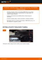 Kaip pakeisti BMW E46 touring stabdžių diskų: priekis - keitimo instrukcija