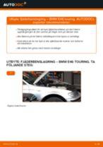 Byta fjäderbenslagring fram på BMW E46 touring – utbytesguide