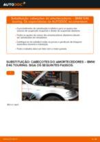 Como mudar cabeçotes do amortecedores da parte dianteira em BMW E46 touring - guia de substituição