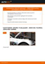 Kuidas vahetada BMW E46 touring esi-amordi tugilaager – õpetus