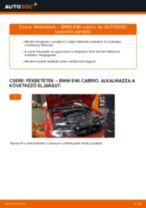Elülső fékbetétek-csere BMW E46 cabrio gépkocsin – Útmutató