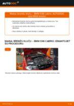 Soli-pa-solim PDF apmācība kā nomaināms BMW 3 Convertible (E46) Bremžu Kluči