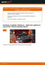 BMW gale ir priekyje Stabdžių trinkelių komplektas keitimas pasidaryk pats - internetinės instrukcijos pdf