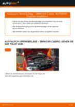 Wie BMW E46 Cabrio Bremsbeläge vorne wechseln - Schritt für Schritt Anleitung