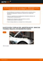 Cómo cambiar: copelas del amortiguador de la parte delantera - BMW E46 touring | Guía de sustitución