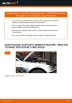 Come cambiare supporto ammortizzatore della parte anteriore su BMW E46 touring - Guida alla sostituzione