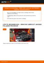 Byta bromsbelägg fram på BMW E46 cabriolet – utbytesguide