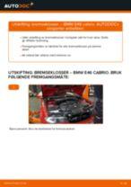 Montering Bremsekloss BMW 3 Convertible (E46) - steg-for-steg manualer