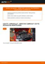 Kuinka vaihtaa jarrupalat eteen BMW E46 cabriolet-autoon – vaihto-ohje