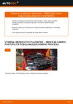 Ako vymeniť predné brzdové platničky na BMW E46 cabrio – návod na výmenu