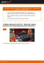 Jak vyměnit přední brzdové destičky na BMW E46 cabrio – návod k výměně