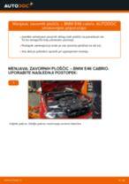 Kako zamenjati avtodel zavorne ploščice spredaj na avtu BMW E46 cabrio – vodnik menjave