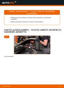 Kuinka vaihtaa Ajovalot 1.0 (SCP10_) Toyota Yaris p1 -autoon