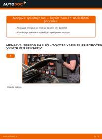 Kako izvesti menjavo: Glavni zaromet na 1.0 (SCP10_) Toyota Yaris p1