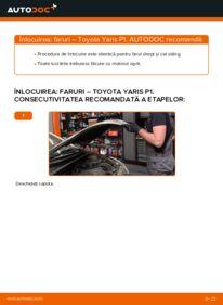 Cum să efectuați înlocuirea: Far la 1.0 (SCP10_) Toyota Yaris p1