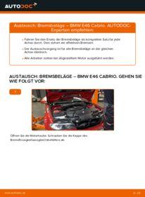 Wie der Wechsel durchführt wird: Bremsbeläge 330Ci 3.0 BMW e46 Cabrio tauschen