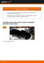 Bremsbelagverschleißsensor hinten wechseln: Mercedes W211 - Schritt für Schritt Anleitung