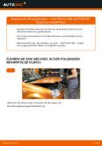 Tutorial zur Reparatur und Wartung für Fiat Panda Van 312