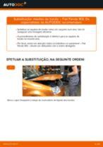Mudar Maxilas De Travão De Mão traseiro e dianteiro FIAT PANDA (169): guia pdf